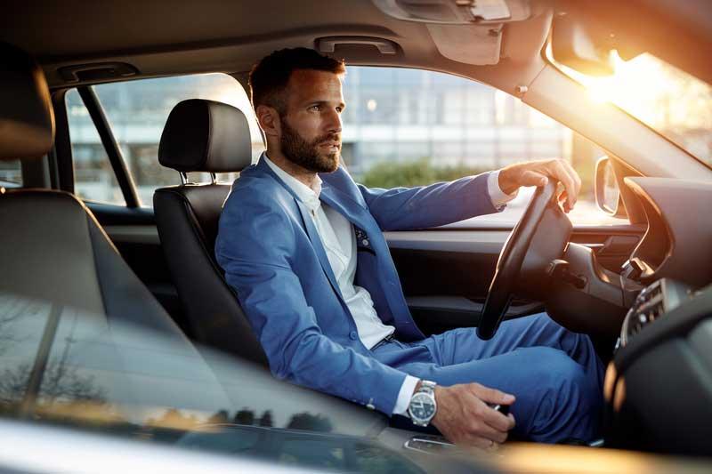 Man Driving Hire Car Co Antrim